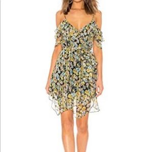 Kendall and Kylie  floral ruffle dress